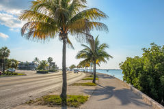 Weg overzee Florida royalty-vrije stock foto's