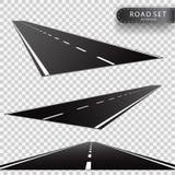 Weg Perspectieven van een teruggaande rijweg Realistisch vectorvoorwerp stock illustratie
