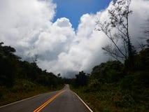 Weg in plateau Stock Afbeelding
