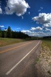 Weg in platteland Stock Afbeelding