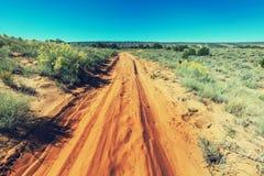 Weg in prairie Stock Foto's