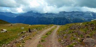 Weg Pyrenäen der Berglandschaft 4x4 Stockfotografie