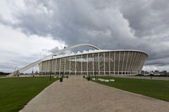 Weg in Richtung zu Moses Mabhida Stadium Stockfotos