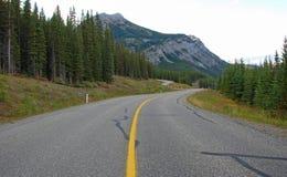 Weg in Rockies stock foto's