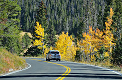 Weg 34, Rocky Mountain National Park Royalty-vrije Stock Foto