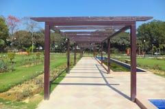Weg in Rose Garden, New Delhi Royalty-vrije Stock Afbeeldingen