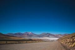 Weg Salar de Talar Atacama Royalty-vrije Stock Afbeeldingen