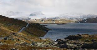 Weg Sognefjell, Noorwegen Stock Afbeelding