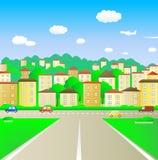 Weg in stad Stock Foto