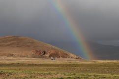 Weg in Tibet stock afbeeldingen