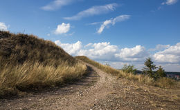 Weg tot de bovenkant van de berg Stock Afbeelding