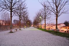 Weg in Treviso, Italië Royalty-vrije Stock Foto