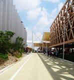 Weg tussen pavilions- Expo 2015 stock foto's