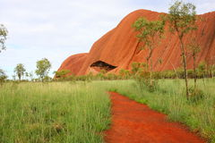Weg in Uluru Stock Foto