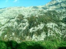 Weg und Ansicht des Bergs Faito in Italien stockfoto