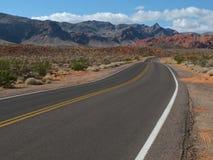 Weg in Vallei van het Park van de Brandstaat, Nevada Royalty-vrije Stock Foto