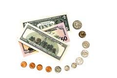 Weg van één cent aan 100 dollars Royalty-vrije Stock Afbeelding