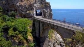 Weg van Amalfi kust, Italië stock footage