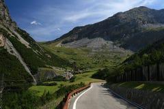 Weg van Bormio aan Passo Stelvio Stock Fotografie