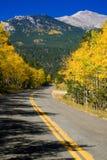 Weg van de Berg van de herfst de Landelijke Royalty-vrije Stock Foto