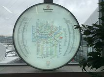 Weg van de de cirkeltrein van Moskou de centrale Stock Afbeelding