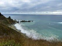Weg 1 van de reisprentbriefkaar Californië Royalty-vrije Stock Afbeeldingen
