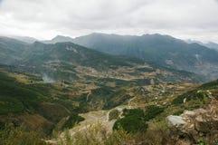 Weg 318 van de Staat van China Sichuan toneel Stock Afbeelding