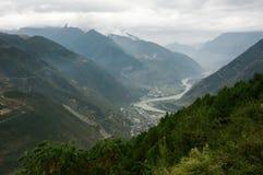 Weg 318 van de Staat van China Sichuan toneel Stock Foto