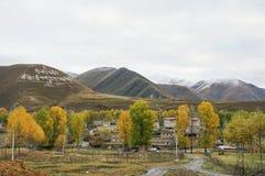 Weg 318 van de Staat van China Sichuan toneel Stock Fotografie