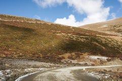 Weg 318 van de Staat van China Sichuan toneel Stock Afbeeldingen