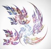 Weg van de Vluchten van Vogels & x28; in een digitale world& x29; Stock Afbeelding