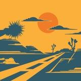 Weg van de woestijn royalty-vrije illustratie