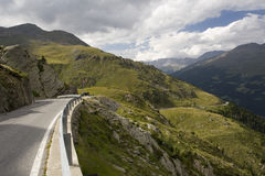 Weg van Passo Gavia Royalty-vrije Stock Foto's