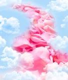 Weg van roze bloemblaadjes royalty-vrije stock fotografie