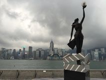Weg van Ster Victoria Habor, Hongkong Royalty-vrije Stock Afbeelding