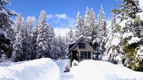 Weg vom Gitter Winter-kleinen Haus Lizenzfreie Stockbilder