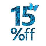 15% weg vom Rabatt Das Konzept des Frühlinges oder des sammer Verkaufs, stilvolles Plakat, Fahne, Förderung, Anzeigen vektor abbildung