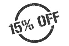 15% weg vom Stempel lizenzfreie abbildung