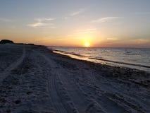 Weg vom Straßen-Sonnenuntergang Stockfotografie