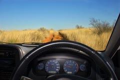 Weg vom Straßenfahrzeug Stockfotografie