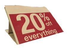 20% weg vom VERKAUF: Alle, die Sie in diese Tasche passen können Stockbilder