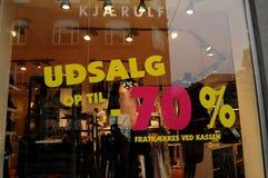 70% weg vom Verkauf im dänischen udsalg Lizenzfreies Stockfoto