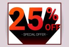 25% WEG vom Verkauf Promo Sonderangebot des Rabattes, der car2 annonciert lizenzfreie abbildung