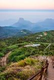 Weg von Adams-Spitze, Sri Lanka Lizenzfreie Stockbilder