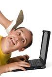 Weg von dem PC! Lizenzfreies Stockfoto