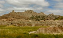 Weg von der Spur im Ödland-Nationalpark in South Dakota Stockfoto