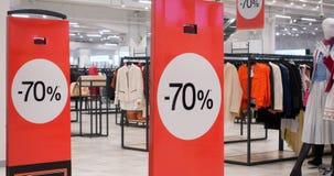 70 weg von der Verkaufsfahne im Einkaufszentrum Lizenzfreie Stockbilder