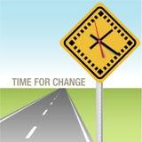 Weg vooruit Tijd voor Veranderingsteken royalty-vrije illustratie