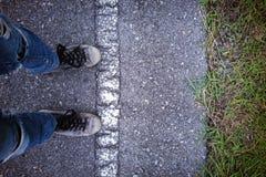 Weg voran ist nicht angemessen Stockbild