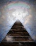 Weg in wolken stock illustratie